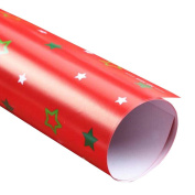 RainBabe Red Christmas Star Present Wrapping Paper Wrap Papers Roll 51cmx72cm 10 Rolls