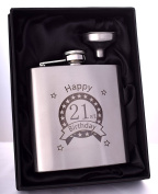 (FBA) Engraved 21ST BIRTHDAY Hip Flask Gift