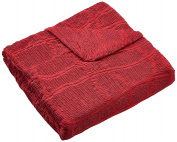 Zebra Textil wing chair elastic cover Betty, red, 38342