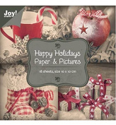 Joy Craft Paper Bloc, Happy Holidays Paper and Pictures