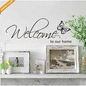 LanLan Home Removable Stickers Mural Art Vinyl Decal Wall Decor DIY Welcome to Our Home