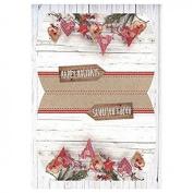 Design Wrapping Paper 2 Sheet – Scandinavian Winter # 33 A4 200 g/m²