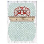 Design Paper Set, Scandinavian Winter # 34, A4, 2 Sheets 200 g/m²