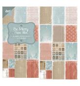 Joy Craft Paper Bloc, Be Merry, 15cm by 30cm