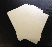 10 X A4 Ivory Tapestry Applique Paper Pearlescent Floral Shimmer Paper 120gsm
