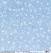 5 Sheets 30cm x 30cm Christmas Snowflakes On Blue - Craft Creations 120gsm Decorative Scrapbook Backing Paper - Printed Front with Plain White Back - Acid and Lignin Free - For Scrapbooking, Cardmaking and Papercraft