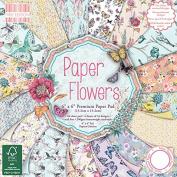 First Edition Paper Flowers Premium Paper Pad 15cm x 15cm 64 Sheets