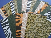 SALE - 24 Assorted Sheets of Safari Print Paper | Papercraft Paper Packs