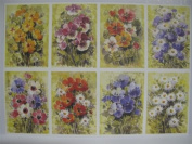 10 x A4 120gsm 1-Sided Watercolour Flower Prints Card Toppers Cardmaking AM542
