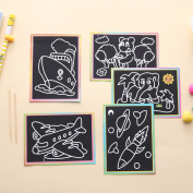 Lanlan Children DIY Magic Scratch Art Painting Paper Educational Scraping Drawing Pictures Toys