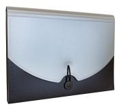 IDENA Expander File DIN A4 Polypropylene 12 Compartments a4 grey/black