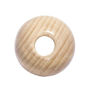 RAYHER Hobby 1201031 Wooden Beads Polished Diameter 30 mm Acrylic Natural 2.45 x 1.75 x 0.85 cm