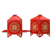 EOYHDSIA Chinese Tradition Red Bridal Sedan Chair Wedding Bridal Shower Favour Candy Gift Boxes