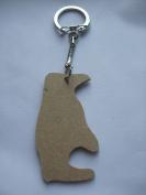 MDF Wooden Keyring For Decoration - Penguin Shaped