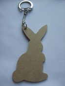 MDF Wooden Keyring For Decoration - Rabbit Shaped