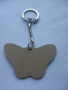 MDF Wooden Keyring For Decoration - Butterfly Shaped