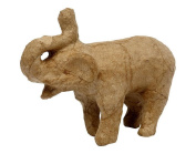 10cm Paper Mache Elephant for Decopatch Crafts