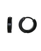 iJewelry2 Small Stainless Steel Black Tone Unisex Helix Huggie Hoop Earrings 10mm
