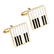 Piano Keyboard Cufflinks Musician Cuff Link Gold Plating With A Presentation Gift Box