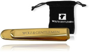 Wolf & Gentlemen tie pin / tie clip Model Gold 18ct gold plated tie pins + noble velour bag + donation to charity