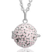 Women Daisy Pendant with 2 Sizes Necklaces Chime Balls Maternity Lucky Gift