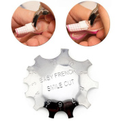 Miswilsi Beauty Metal Easy French Line Edge Trimmer False Nails Form Template Nail Smile Cutter