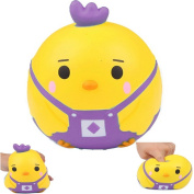 AIKEMI Cute Cartoon Round Baby Chick Chicken Strap Animal Squishy Stress Relief Stretch Slow Rising Squeeze Jumbo Gift Toys