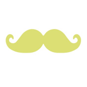 """Details about Large Craft Punch 3"""" (7.5cm Moustache) Card Making Embelishments Tag"""