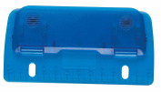 Idena 335072 Compact Hole Punch with 30cm Scale with Filing Holes for Easy Filing, Plastic, Translucent, Assorted Colours