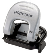 PaperPro - 2315 - inDULGE 20 Two-Hole Punch, 20 Sheets, Silver/Black