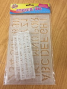 4 x Stencil Set Letters Alphabet Art Craft Drawing School Number Lettering