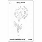 That's Crafty! - Dinky Stencil - Spiral Flowers