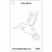 That's Crafty! - Dinky Stencil - Hummingbird