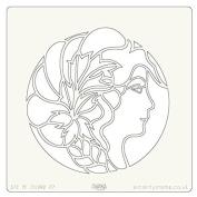 Clarity Stamps Groovi 18cm x 18cm Stencil - Amaryllis