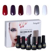 Nail Polish UV LED Nail Art Soak Off Starter Kit Varnish Gel Nails 6PCS FairyGlo 7ml 1007