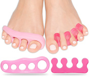 Toe Separators - Gel Stretchers Spreader & Separator Correct Toes Straightener Alignment Spacers Toes for Pedicure Yoga Practise Bunions Foot Pain - Walking for Men & Women Hummer Toes