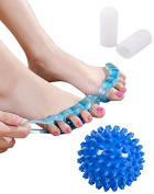 UMITOM Toe Separators Gel Toe Stretcher Yoga Massage Ball Toe Protectors For Bunions For Foot Pain Relief