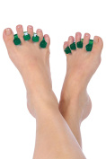 Happy Toes Gel Toe Separators and Straightener for Foot Pain & Bunion Relief, Hammer Toes and More - 1 Pair,