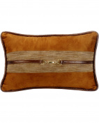 HiEnd Accents LG1860P4 Highland Lodge Suede Buckle Pillow, 12x19