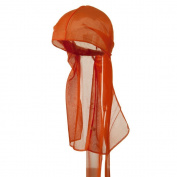 Titan Classic Satin Durag Cap - Orange #11139