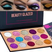Beauty Glazed 15 Colours Glitter Eyeshadow Palette Shimmer Ultra Pigmented Makeup Eye Shadow Powder Long Lasting Waterproof
