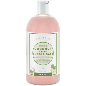 Calily Life Tropical Aromatherapy Coconut and Lime Bubble Bath, Soak and Wash, 1000ml– Infused with Pure Essential Oils; Coconut, Lime, Aloe Vera & Organic Extracts – Relaxes, Soothes & Nourishes
