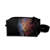Create Magic - The Lion Of Lyon Small Carrying Storage Pouch Case Bags Waterproof Multi-purpose Storage Tote Tools Pouches Cosmetic Bags With Zipper And Hanging Loop
