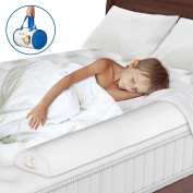 Toddler Bed Rail - Foam with Waterproof Cover - Free from BPA and Phthalate - White to Match any Mattress - Baby Safety Side Guard to Prevent Your Child from Rolling off of the Bed