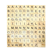scrabble wood tiles 100 Wooden Alphabet Black Letters Pendants Name Deluxe Edition Tage for Scrapbooking