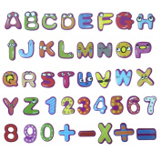 26 Capital Letters Fridge Magnets, Fun Kindergarten White Board Magnetic Letters and Numbers Stickers - 26 Letters, 10 Numbers and 5 Math Symbols - Educational Toys for Kids and Toddlers