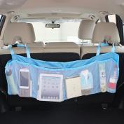 KKmoon Multifunction Longer Version Car Backseat Hanging Box Organiser Auto Back Seat Travel Multi Pocket Car Styling Holder Storage Bag 6 Layers Items Placing Auto Accessories
