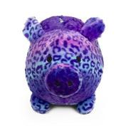 Jumbo Purple Gradient Print Plush Piggy Bank