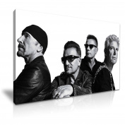 U2 Rock Band Canvas Wall Art Picture Print 76x50cm
