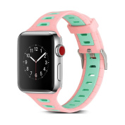 Seamount Double Colour Silica Gel Watchband For Apple Watch 38MM/42MM